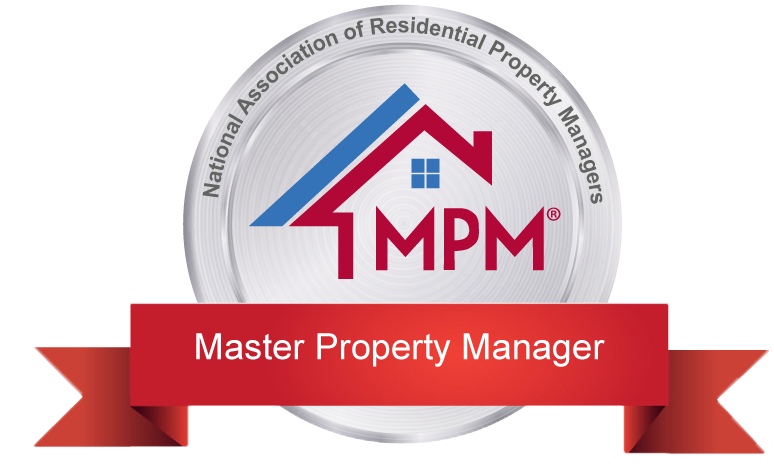 an image of master property manager designation logo