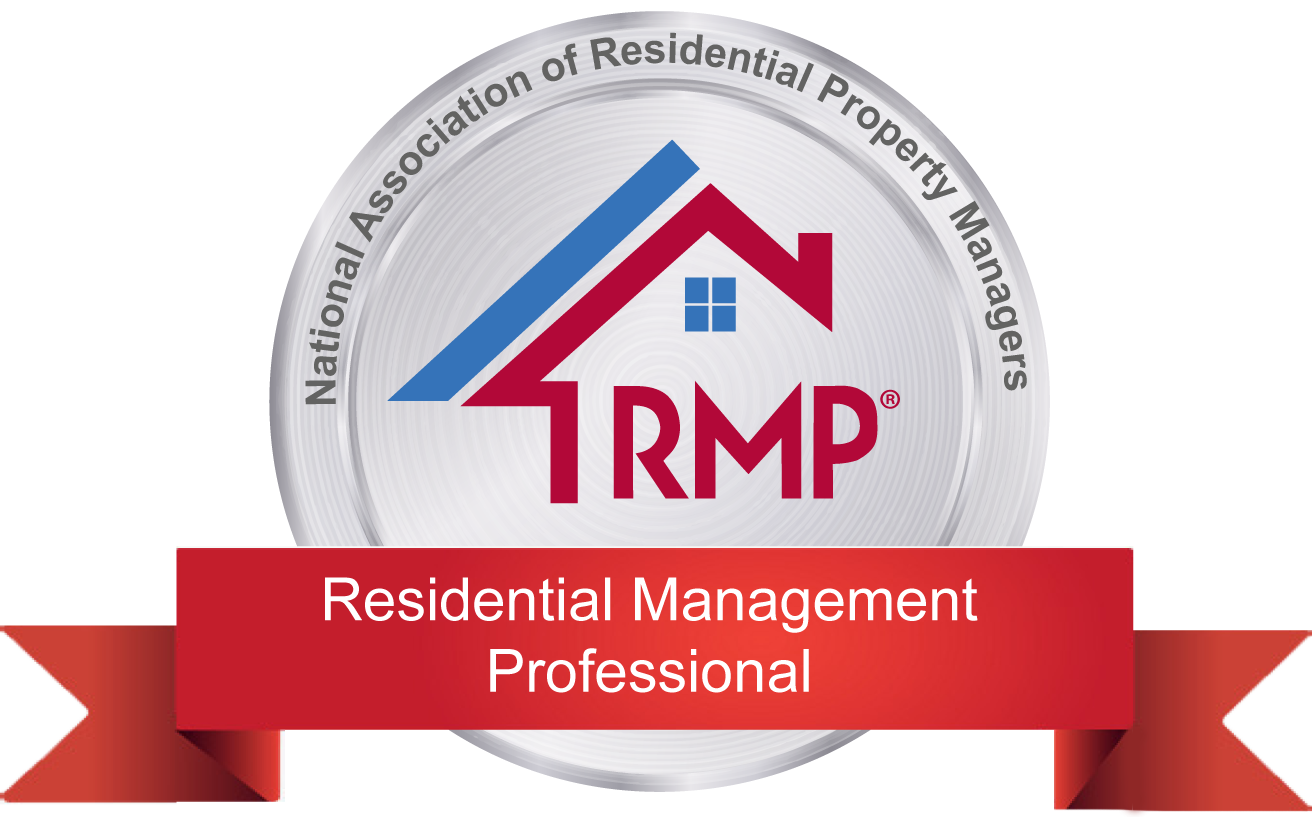 an image of residential management professional designation logo